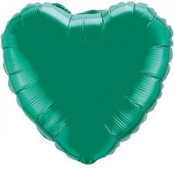 Кулька фольгована Серце салатова