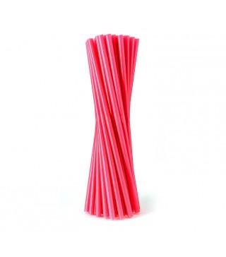 Трубочки для коктейлю червоні 25 шт/уп