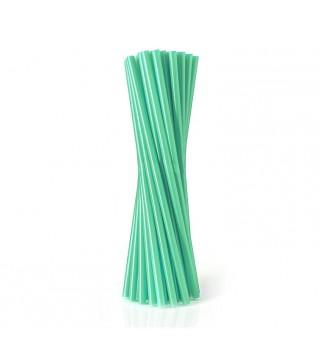 Трубочки для коктейля зеленые 25 шт/уп
