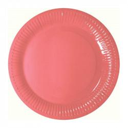 Тарелки Розовые 8шт/уп