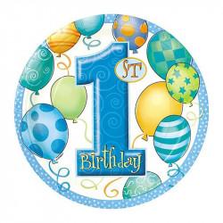 Тарелки 1-st Birthday boy...