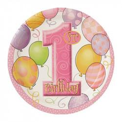Тарілки 1-st Birthday girl...