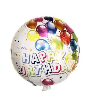 "Кульки фольг з малюнк. Круг"" Кульки"" Happy Birthday фольга 21552 Китай"