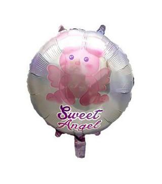 "Кульки фольг з малюнк. Круг ""Милий ангел рожевий"" фольга 21554 Китай"