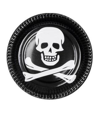 Тарілки Череп пірата 6шт/уп