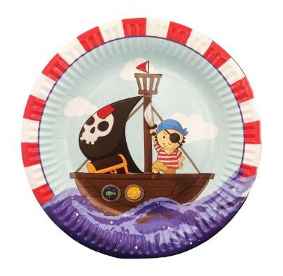 """Тарілки Малий пірат 8 шт./уп. 181817 ТМ""""FunFan"""""""