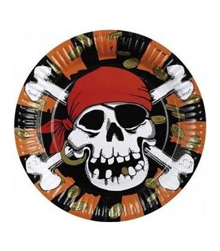 Тарілки Jolly Roger 6шт 551936 Amscan