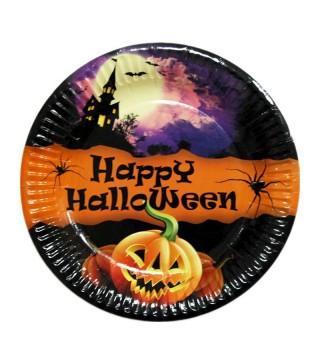 Тарілки Happy Halloween 6шт/уп