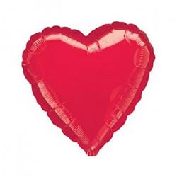 Кулька фольгована Серце червоне золото