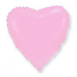 Кулька фольгована Серце рожеве