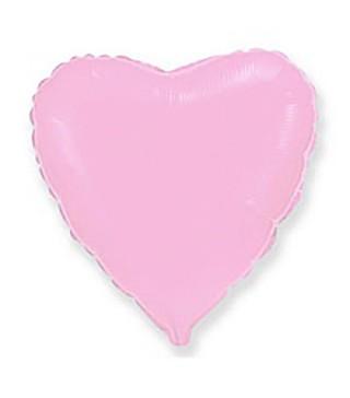 Шарик фольгированный Сердце розовое