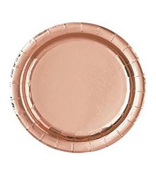 Тарелки Розовое золото 8 шт/уп