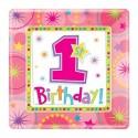 Тарілки 1-st Birthday girl 8шт/уп