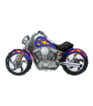 Кульки міні Мотобайк синій фольга 902731 FlexMetal