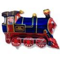 Кульки міні Потяг блакитний фольга 902689 FlexMetal
