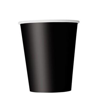 Стаканчики 8 шт./уп. чорний папір F-080845