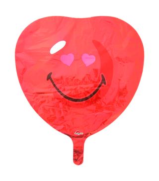 Кулька фольгована Серце смайл
