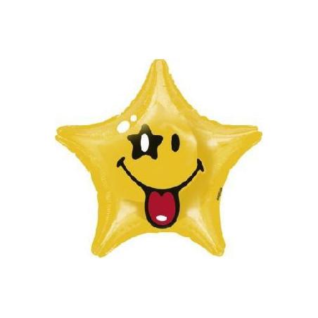 Шарик фольгированный звезда с кляксой