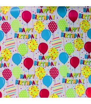 """Пакувальна упаковка Папір подарунковий """"Happy Birthday"""" 70см(за метр) папір 7015 Україна"""