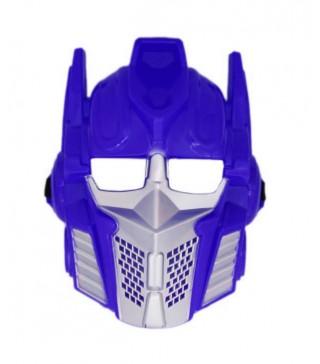Карнавальная маска Трасформер голубая