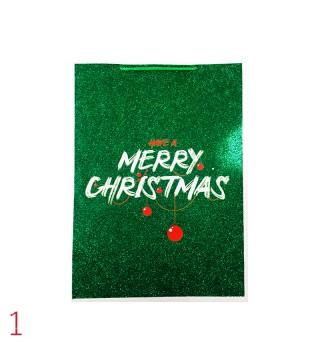 Подарунковийі пакет Merry Christmas з посипкою18*23*10см 18913 Китай