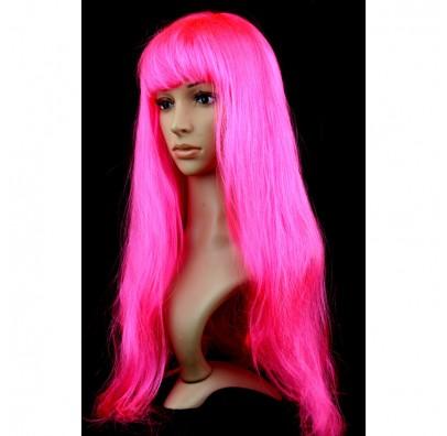 Парик прямой ярко-розовый