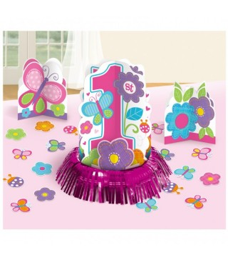 Декорація на стіл 1-st Birthday girl 1шт/уп
