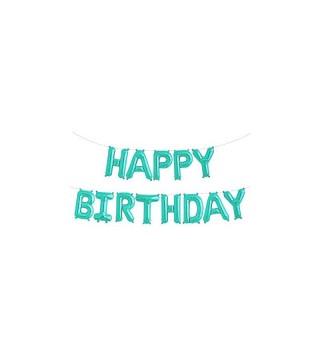 Шарики-Буквы HAPPY BIRTHDAY бирюзовые