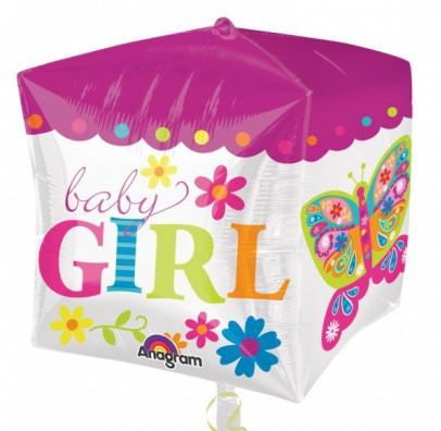 Шарик воздушный Baby Girl квадрат