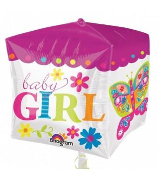 Кулька фольгована Baby Girl квадрат