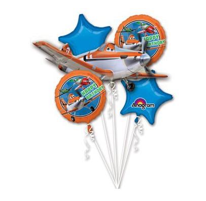 Шарики фольгированные Самолетики набор 5 шт