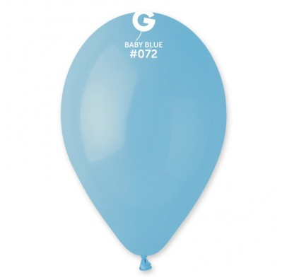 "Кульки пастель 10"" Бебі-голубі  G90/72 100шт 09721 Gemar"