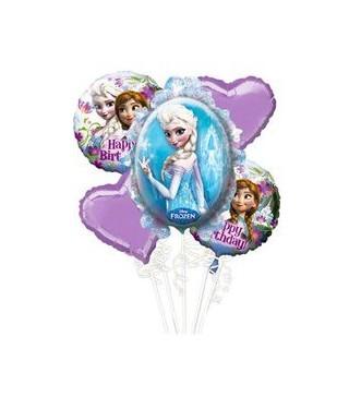 Кульки фольговані Крижане серце 5шт/уп