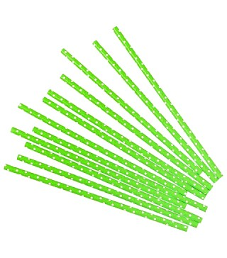 Трубочки для коктелю папер бузкові в горох 25шт/уп. 6005 Китай