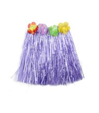 Юбка гавайская фиолетовая 40 см