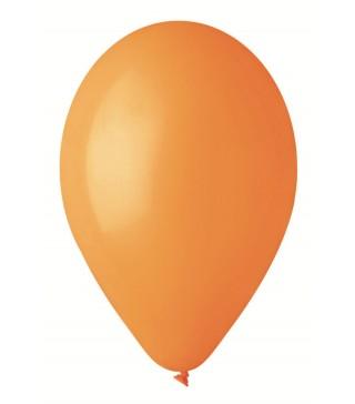 """Шарики оранжевые 10 """"(26см) пастель 100шт/уп"""
