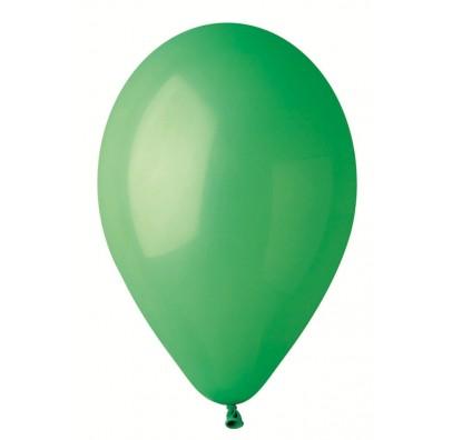 """Шарики зеленые 10""""(26см) пастель 100 шт/уп"""