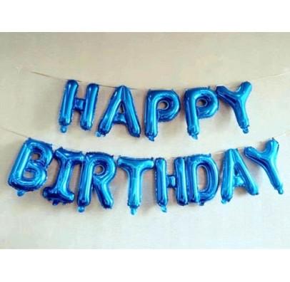 Шарики-буквы Happy Birthday ассорти