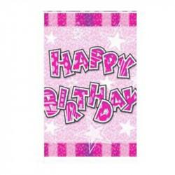 "Скатертина "" Happy birthday"" рожева Поліетилен 412270 Китай"