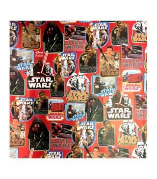 Пакувальна упаковка Папір подарунковий Star Wars 0,7м 2м рулон папір 00325 Польща
