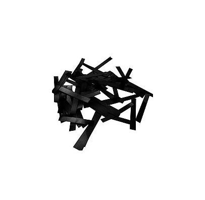 Конфеті полоски (чорні) 50 гр. папір 06066