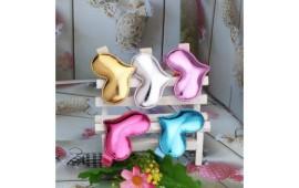 Заколка для принцес Серце металік м`ягенька 6 кольорів пластик, тканина Z-0101 Китай
