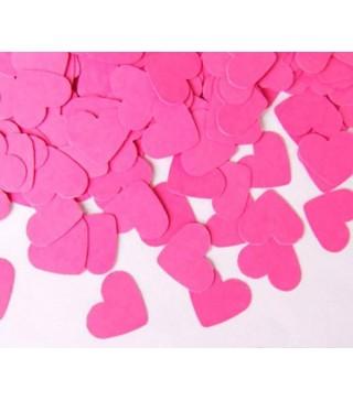 Конфеті сердечка 25 гр.рожеві поліпропілен 06070