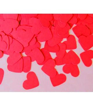 Конфеті сердечка 25 гр.червоні поліпропілен 06070