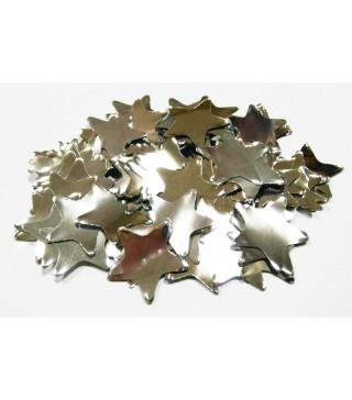 Конфеті зірки срібло 23мм 25 гр. поліпропілен 02156
