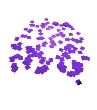 Конфеті квадратики фіолетові 25 гр. фольга 04998