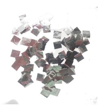 Конфеті квадратики срібні 25 гр. фольга 04998