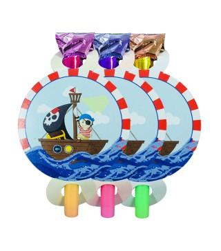 Язички Маленький пірат 6 шт./уп. папір.фольга.пласмаса F-1010171