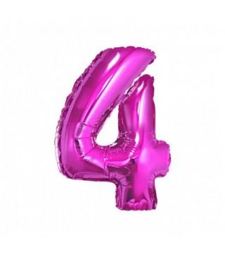 Кульки Цифра 4 Фуксія (7г) фольга 901764(F) FlexMetal
