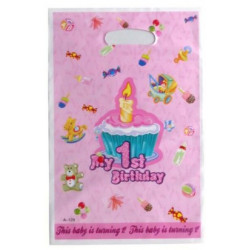 """Подарунковий пакет Пакети """"My 1st Birthday""""рож.10 шт/уп поліпропілен 55104 Китай"""